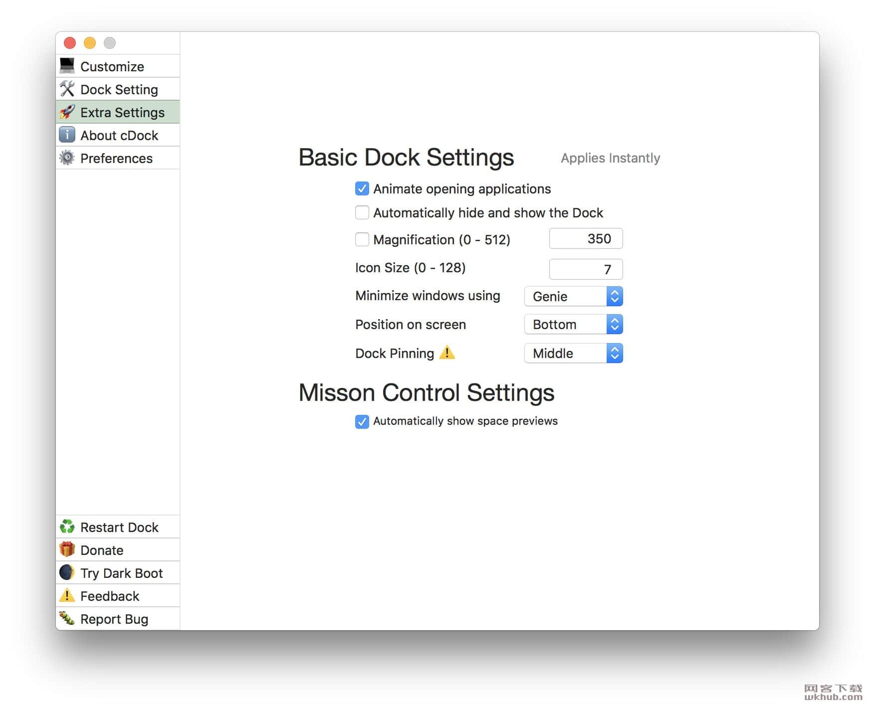 cDock 3.0.3 实用的Dock自定义美化工具