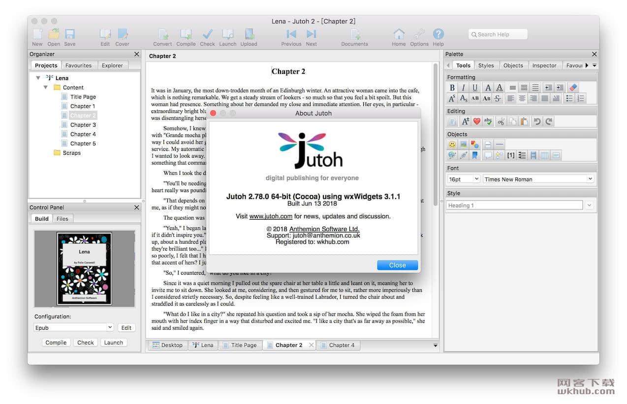 Jutoh 2.90 电子书设计编辑制作软件