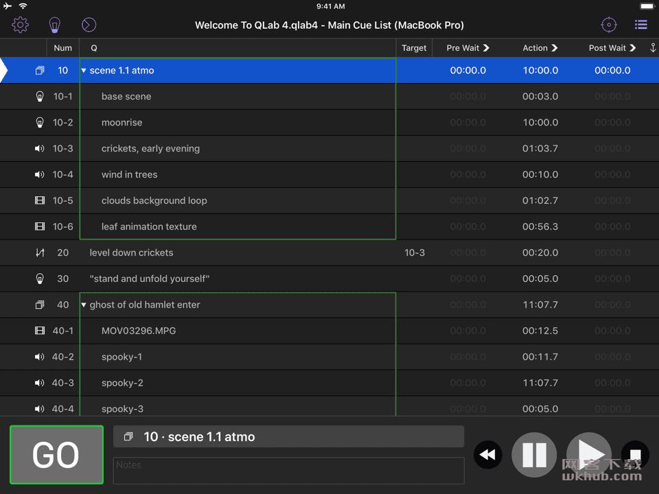 QLab Pro 4.4.3 优秀的舞台音乐控制软件