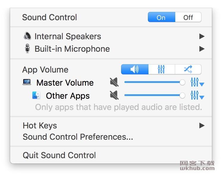 Sound Control 2.4.1 CR2 强大的音量控制软件