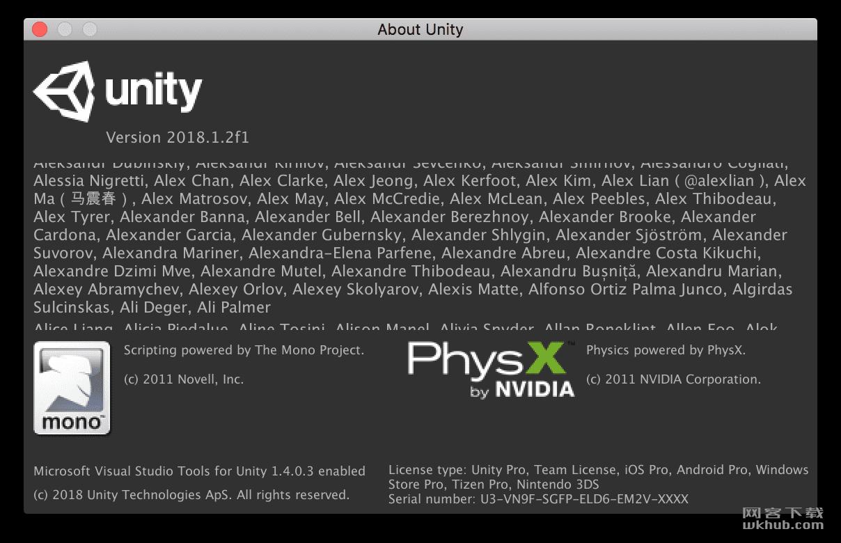 Unity Pro 2018 1.2f1 最流行最强大的游戏开发引擎