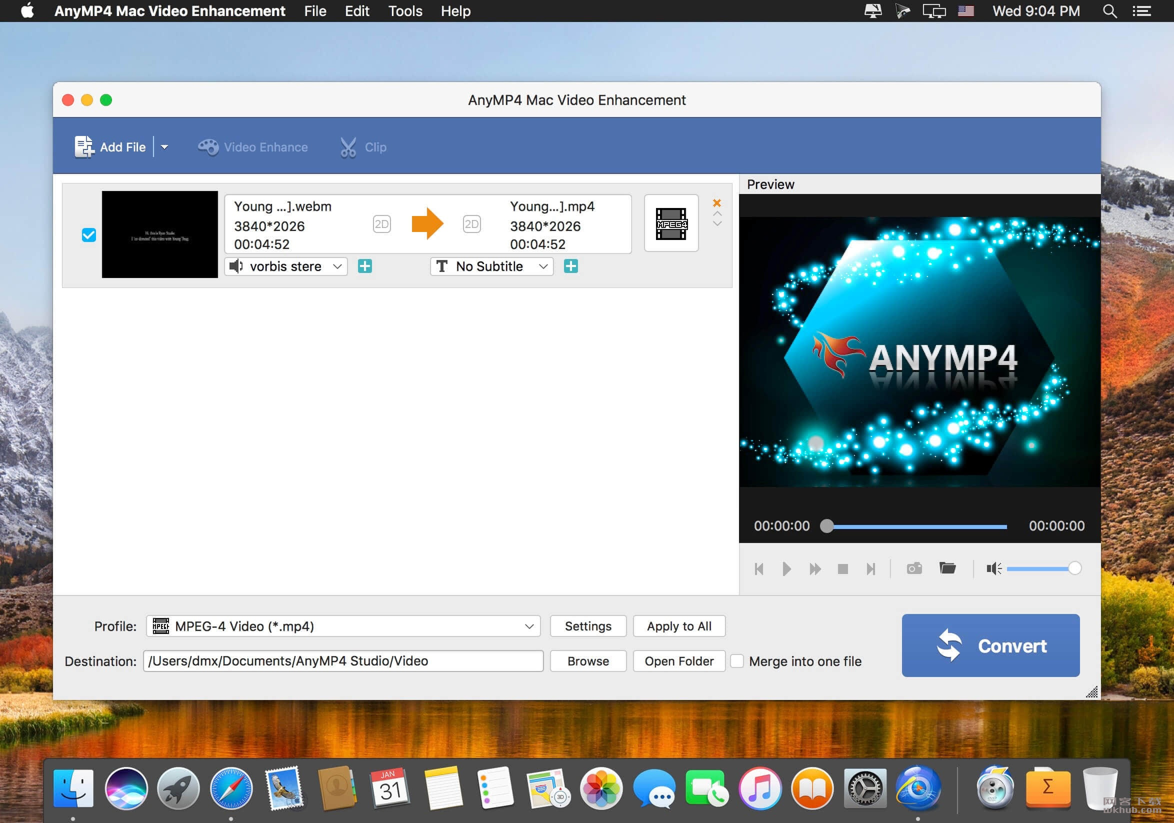 AnyMP4 Mac Video Enhancement 8.2.10 强大的视频增强软件