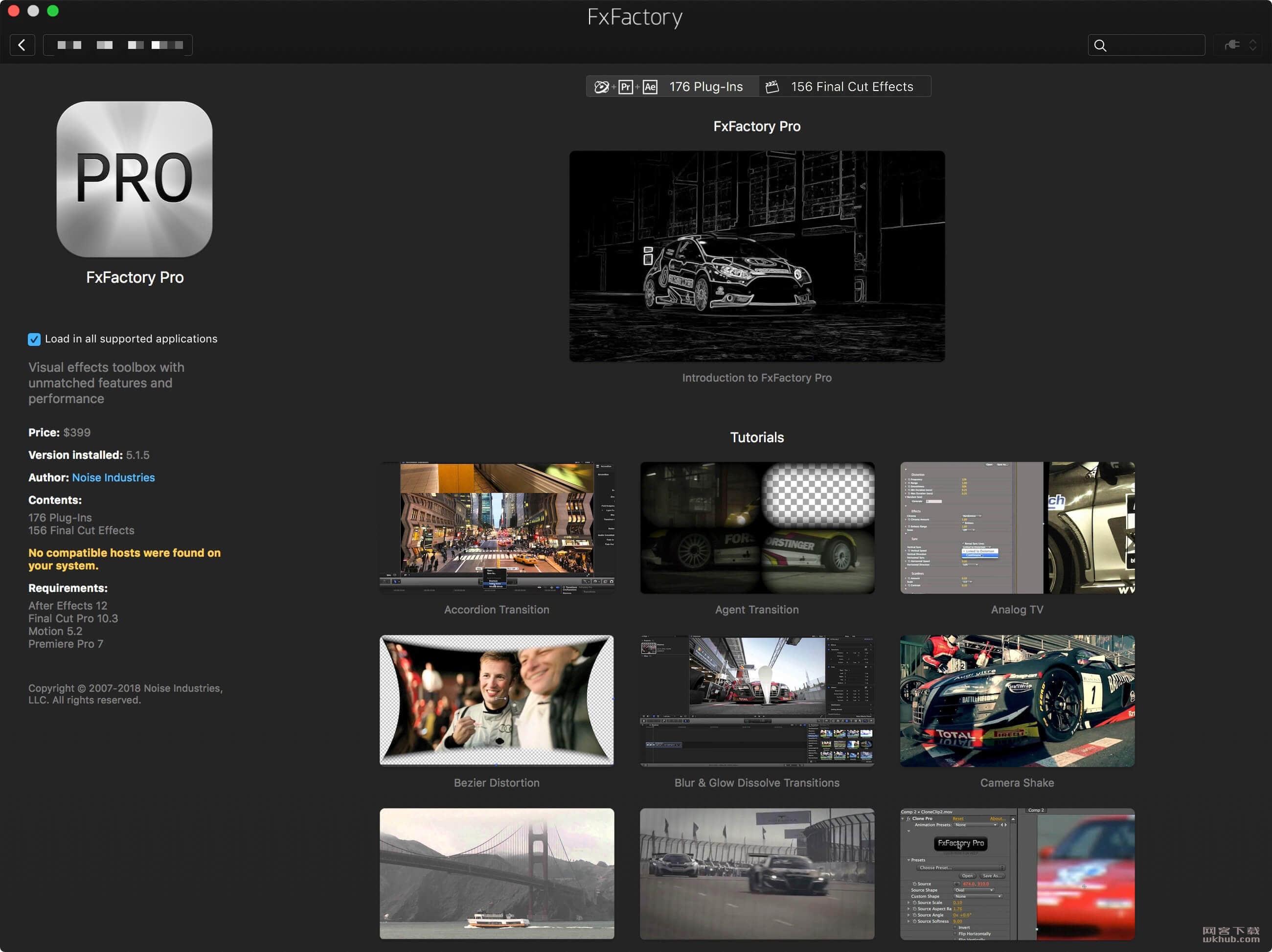 FxFactory Pro 7.1.0 强大的视频特效插件包集成应用