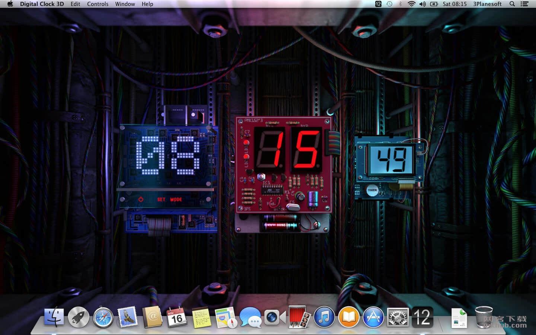 Digital Clock 3D 1.1.2 漂亮的3D动态时钟桌面应用