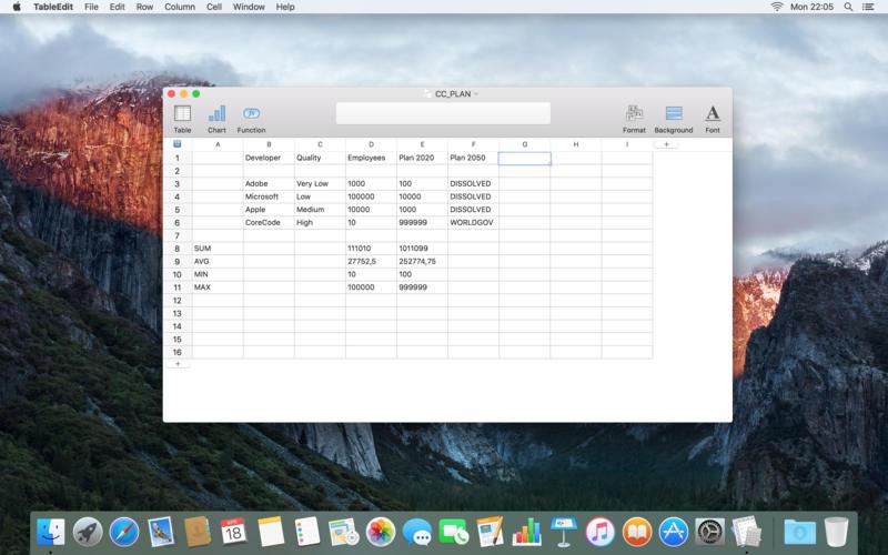 TableEdit 1.4.2 干净和优雅的电子表格应用
