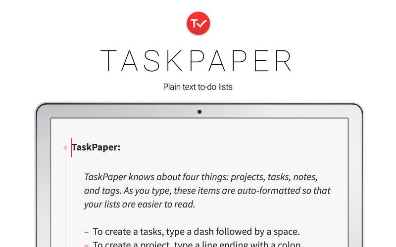 TaskPaper 3.8.2 优秀的待办事项和任务管理工具