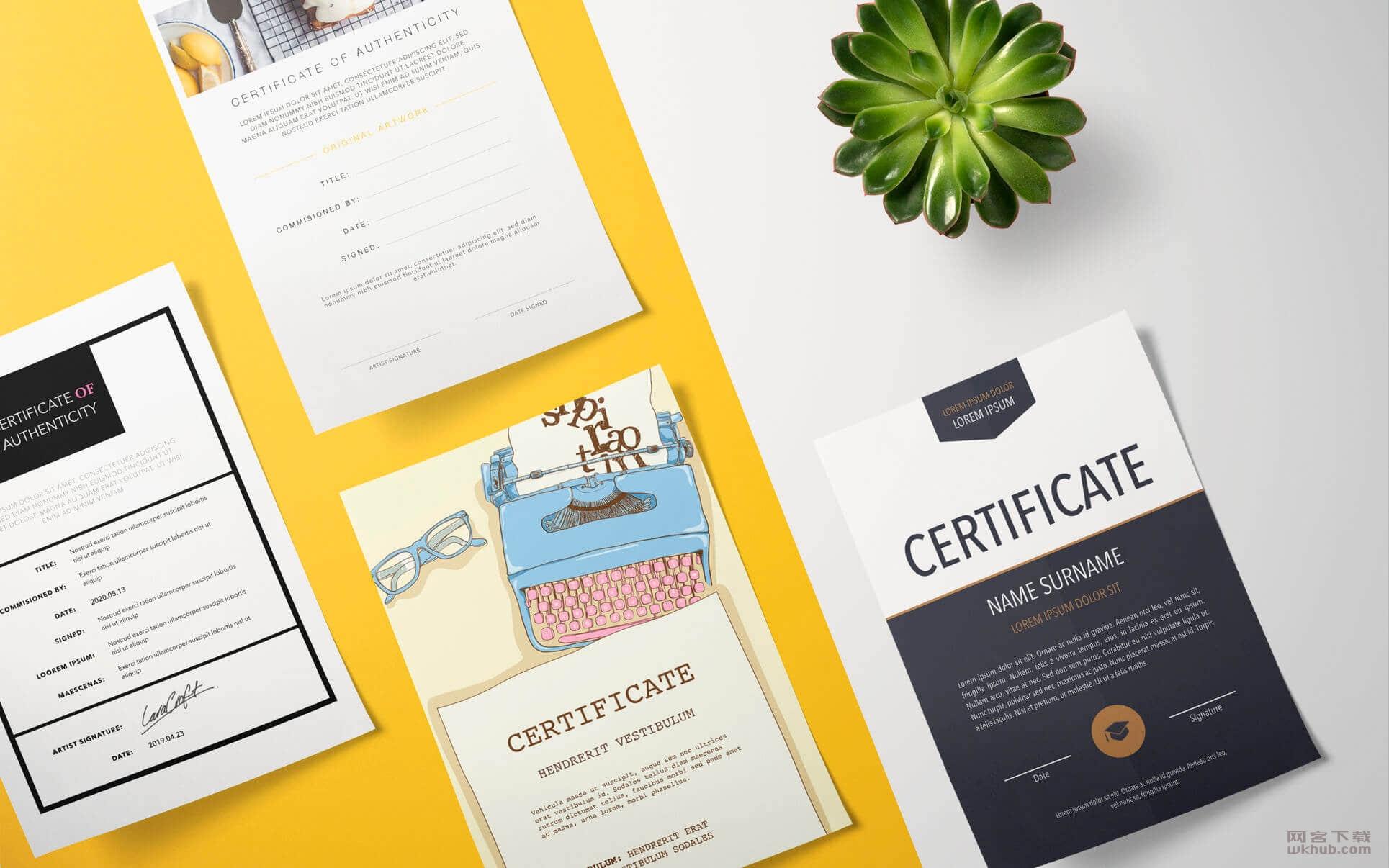 Certificates DesiGN – Templates 2.0.1 丰富的认证类模板应用