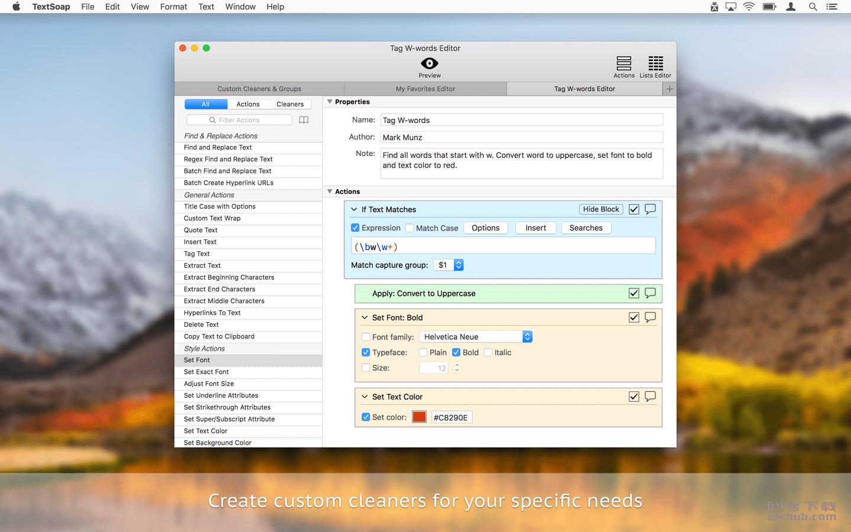 TextSoap 8.5 强大的文字格式处理工具