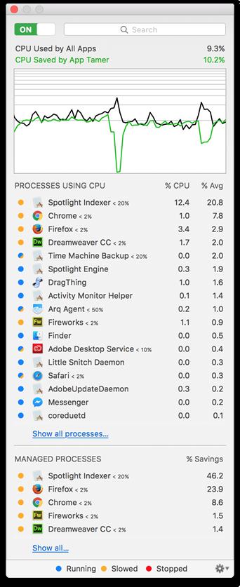 App Tamer 2.4.9 实用的延长电池使用时间的工具