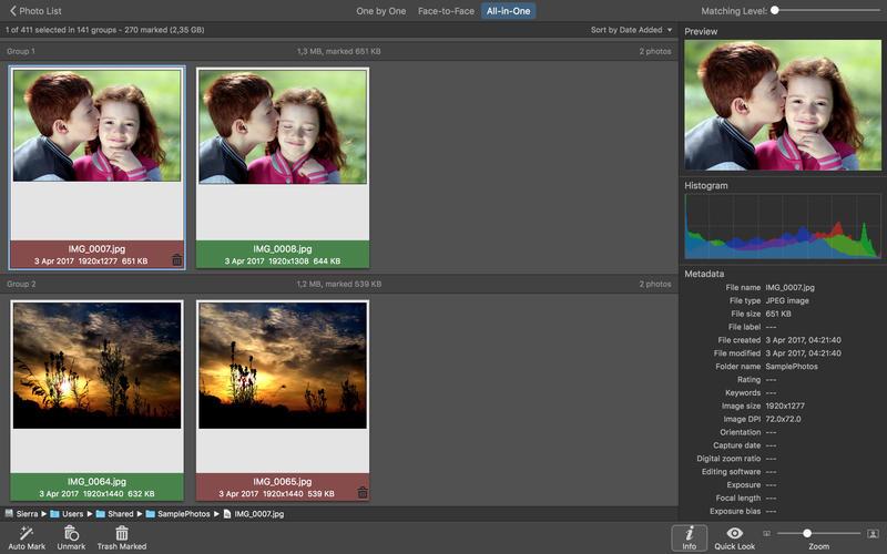 PhotoSweeper X 3.4.2 实用的检索重复相似照片工具