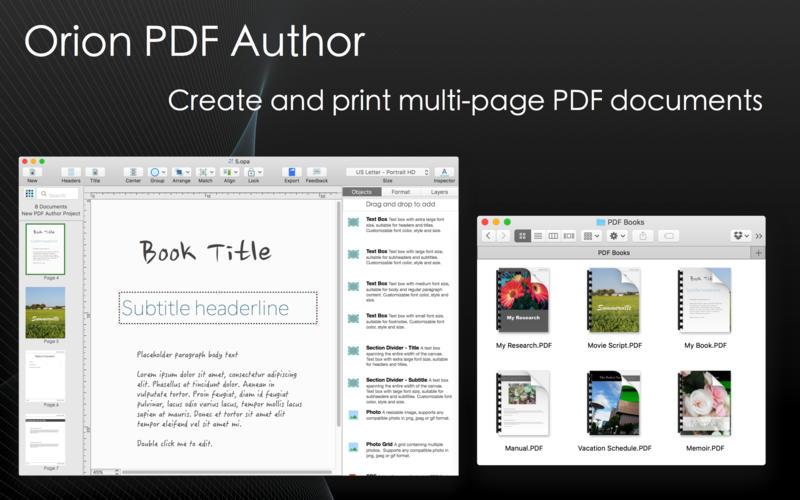 Orion PDF Author 2.30.1 多页PDF创建编辑软件