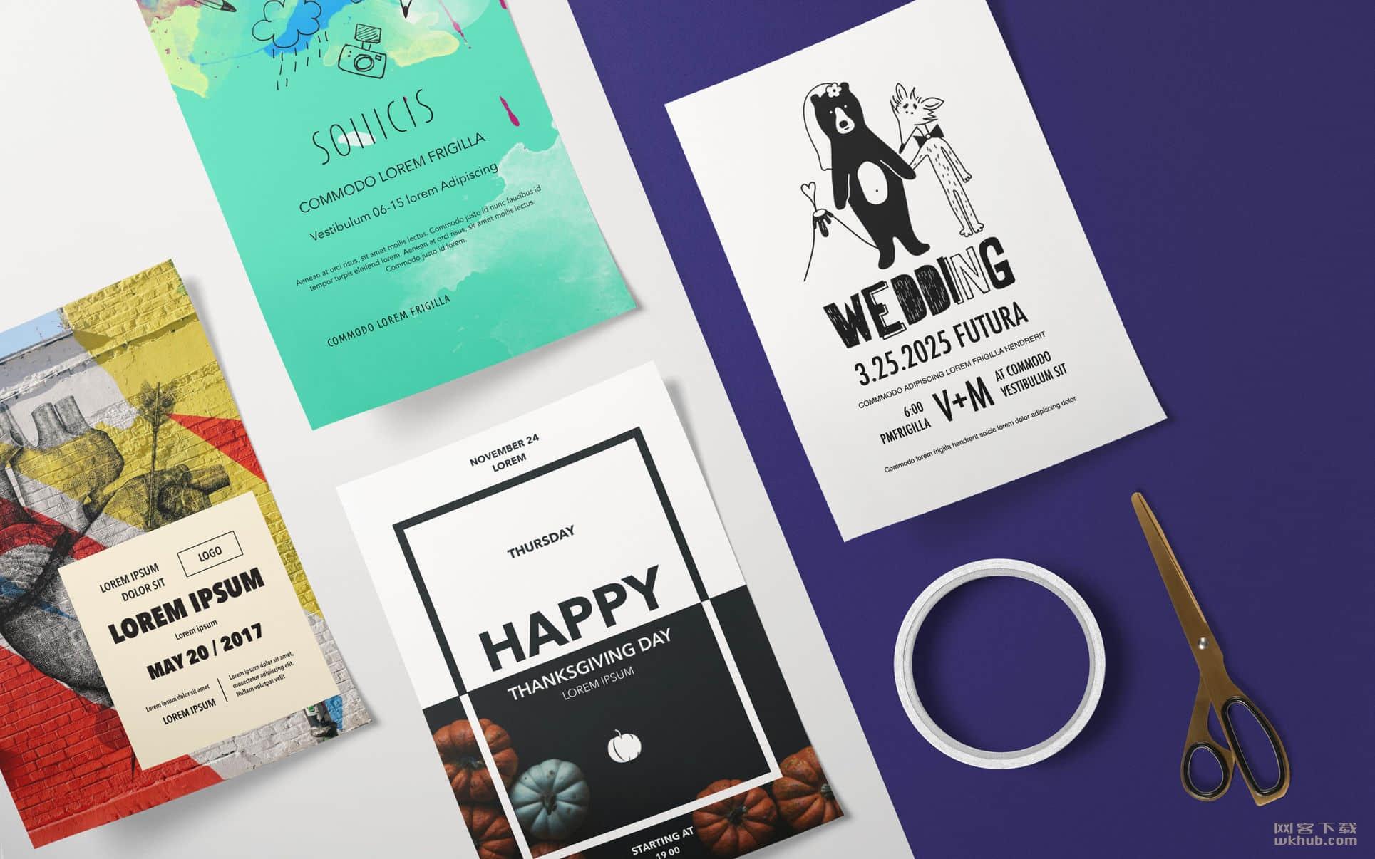 Posters Templates - DesiGN 3.0.1 海报明信片模版