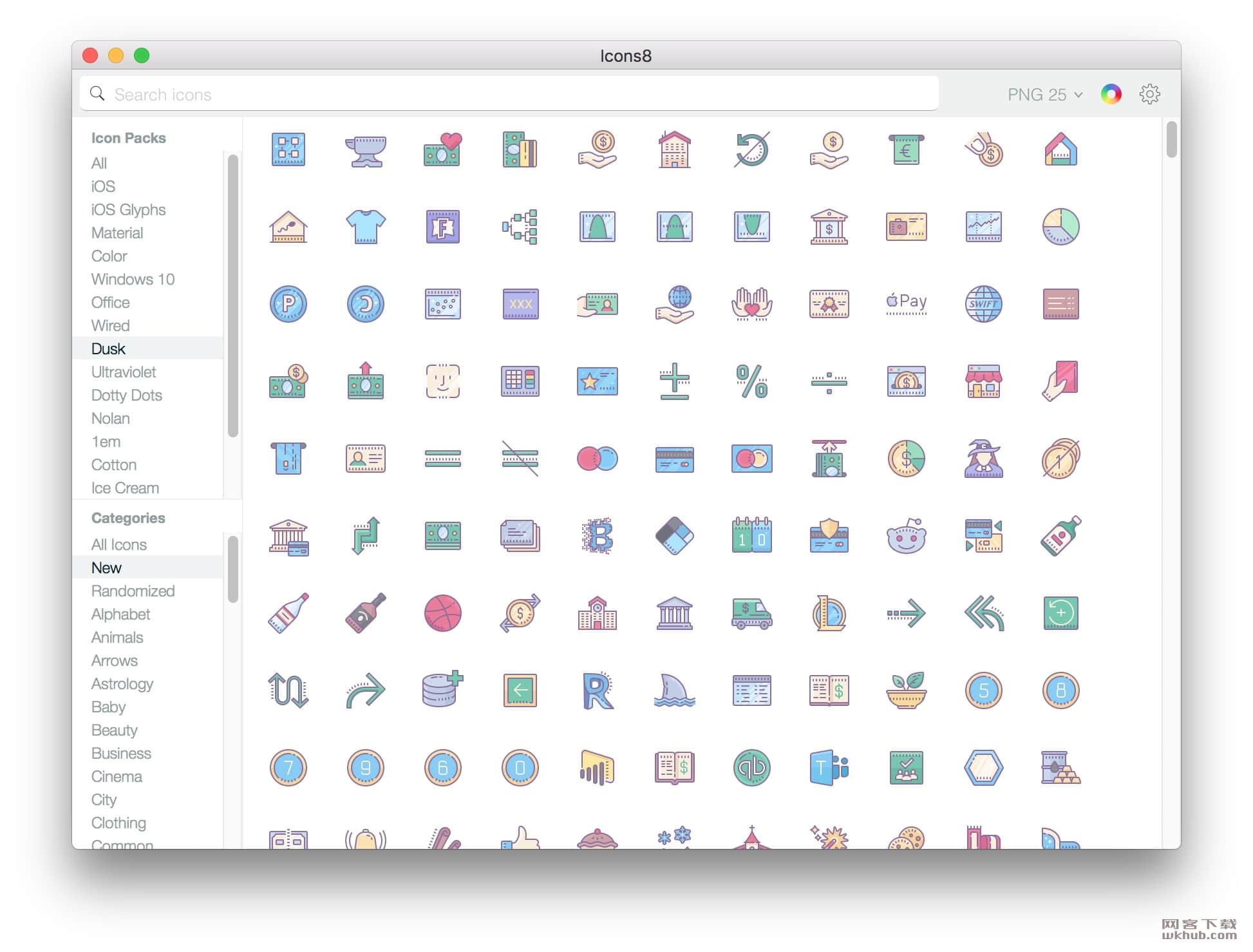 Icons8 5.6.7 方便的图标搜索工具