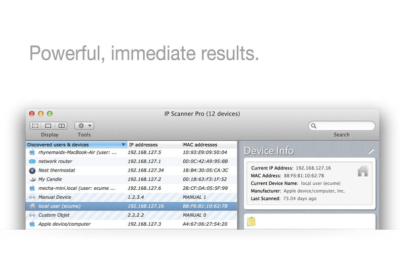 IP Scanner Pro 3.71 优秀的局域网扫描工具