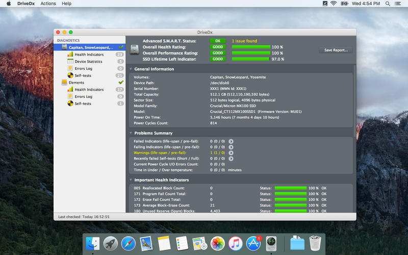 DriveDx 1.8.0 优秀的磁盘健康检测和监控工具