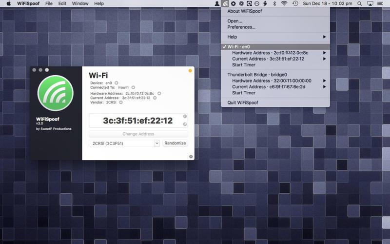 WiFiSpoof 3.3 快速修改MAC地址工具