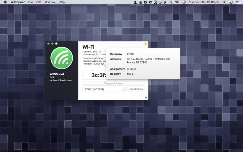WiFiSpoof 3.4.2 快速修改MAC地址工具