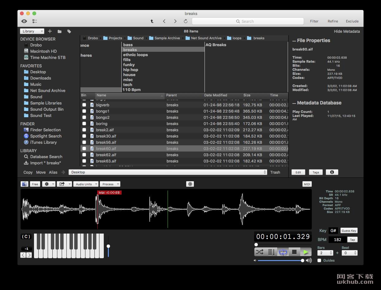 AudioFinder 5.9.19 音频管理工具