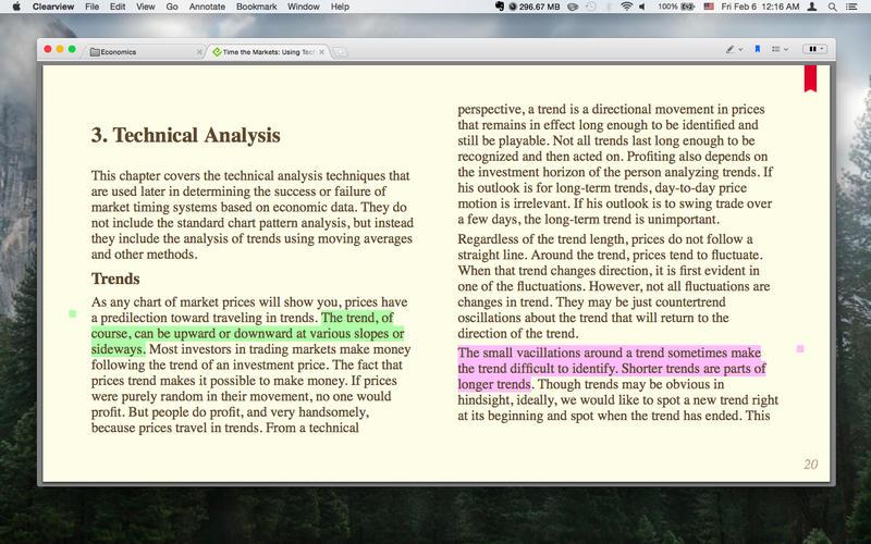Clearview 2.3.2 优秀的多格式电子书阅读器