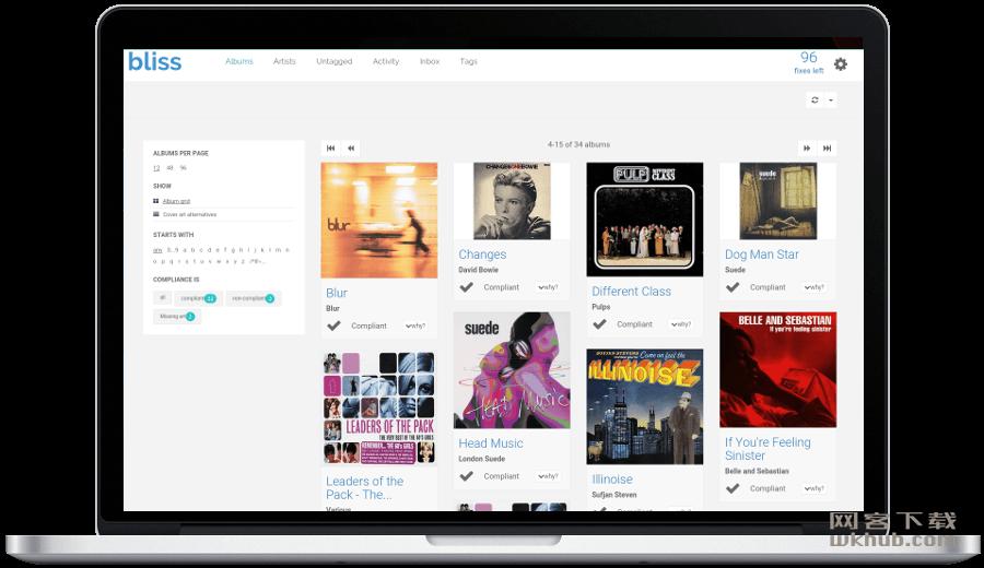 Bliss 20180816 可视化本地大型音乐库管理工具