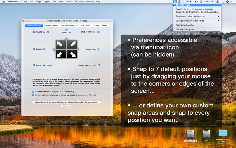 BetterSnapTool 1.9.2 优秀的窗口控制工具