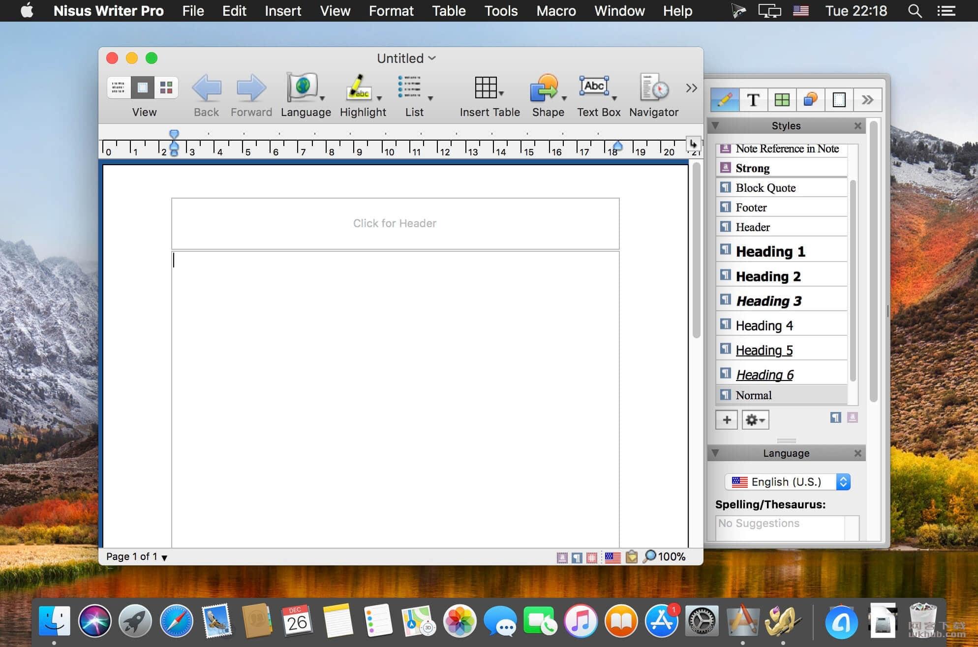 Nisus Writer Pro 2.1.10 多语言文字处理工具