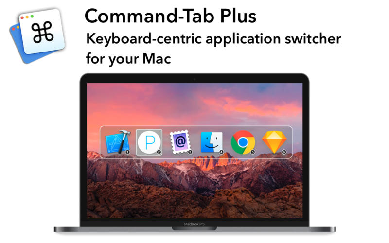 Command-Tab Plus 1.90 键盘快捷应用程序切换工具