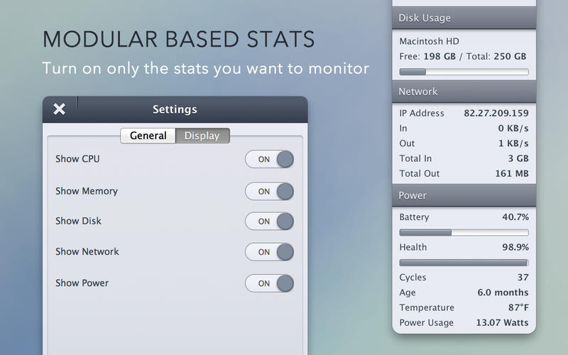 StatsBar 2.6 优秀的系统监控工具