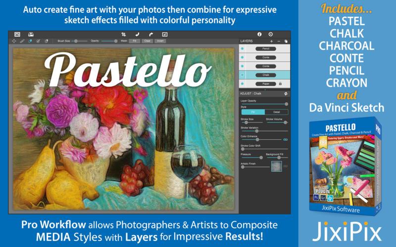 JixiPix Pastello Pro 1.1.10 优秀的照片风格化软件