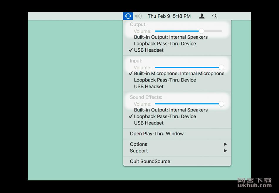 SoundSource 4.2.1 音频切换控制软件