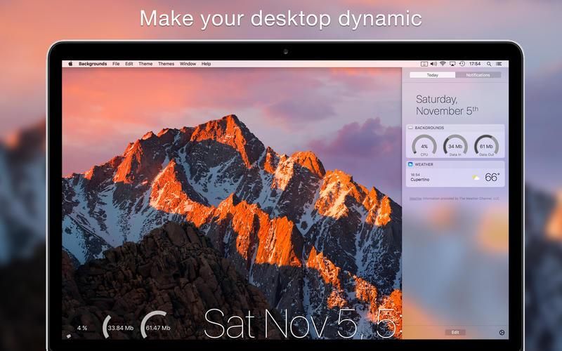 Backgrounds 7.4 桌面增强和美化工具