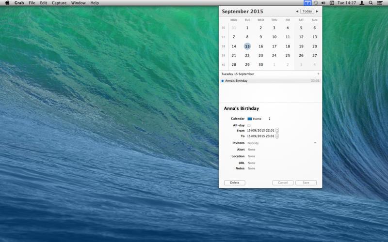 popCalendar 1.8.7 优秀的菜单栏日历工具