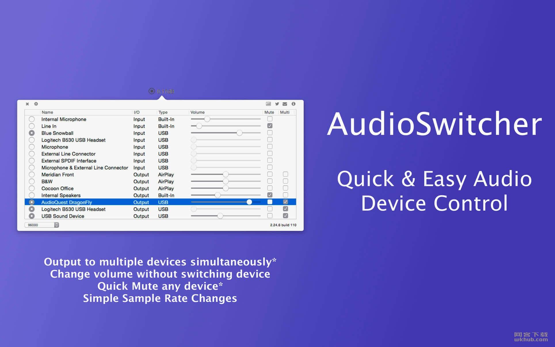 AudioSwitcher 2.99 快速音频切换控制工具