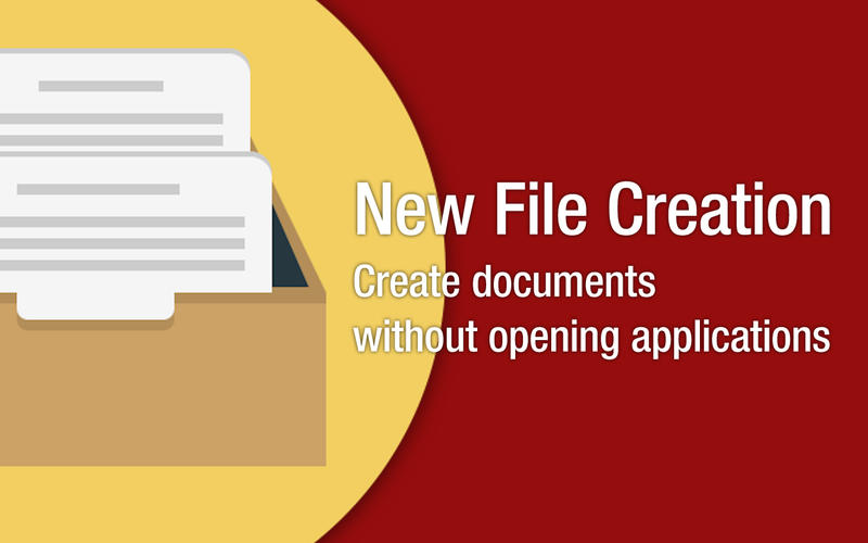 New File Creation 5.1 文件快速生成工具