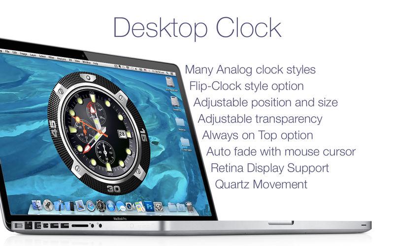 Desktop Clock 2.2.0 桌面数字时钟应用
