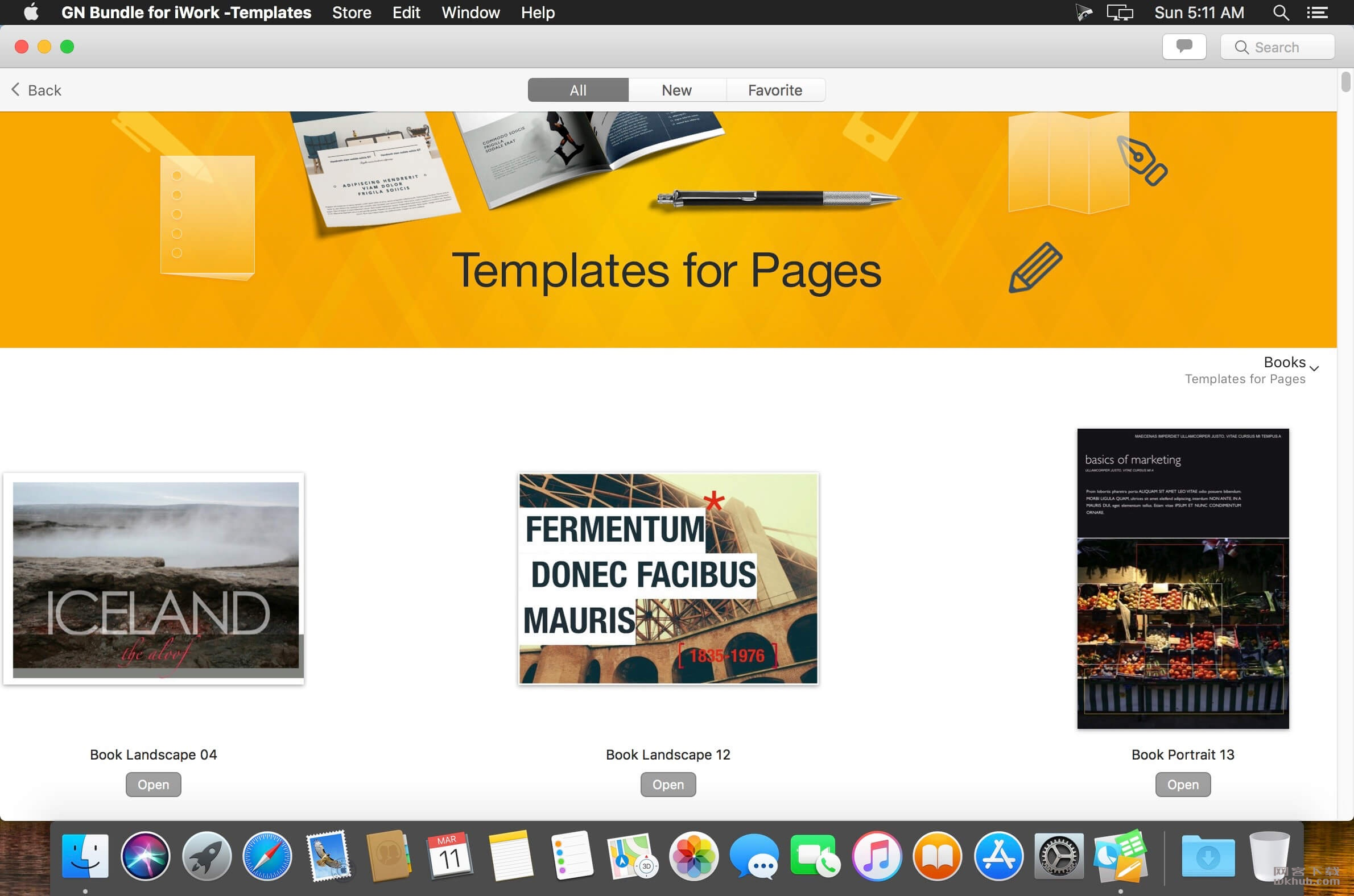 GN Bundle for iWork - Templates 6.0.8 iWork模板合集