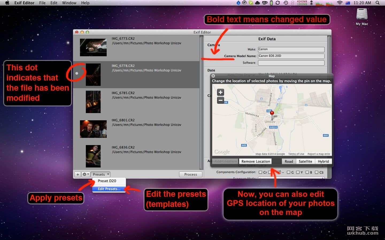 ExifEditor 1.1.14 照片中元数据编辑工具