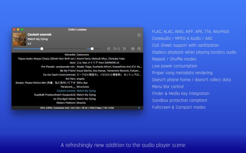 Colibri 1.9.0 无损音频播放器