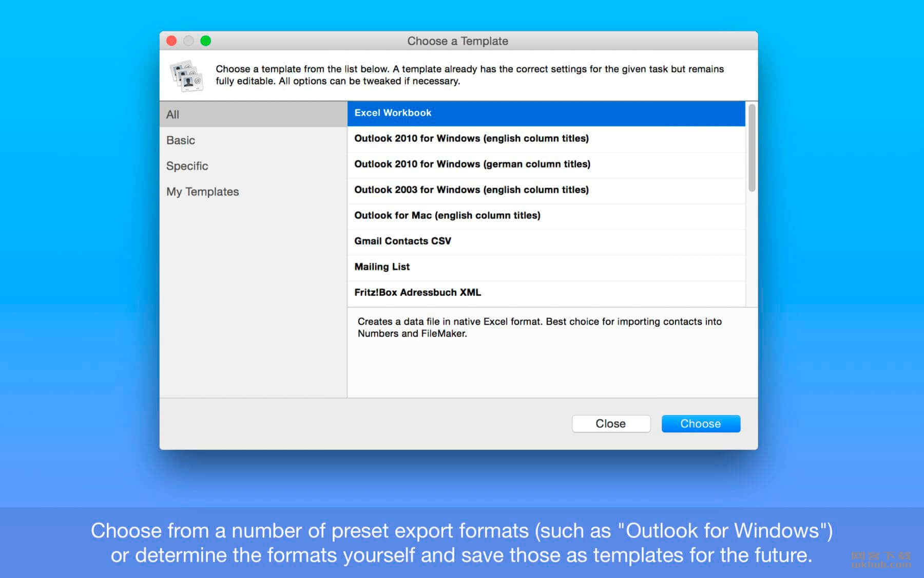 Exporter for Contacts 1.11.2 方便的联系人导出工具
