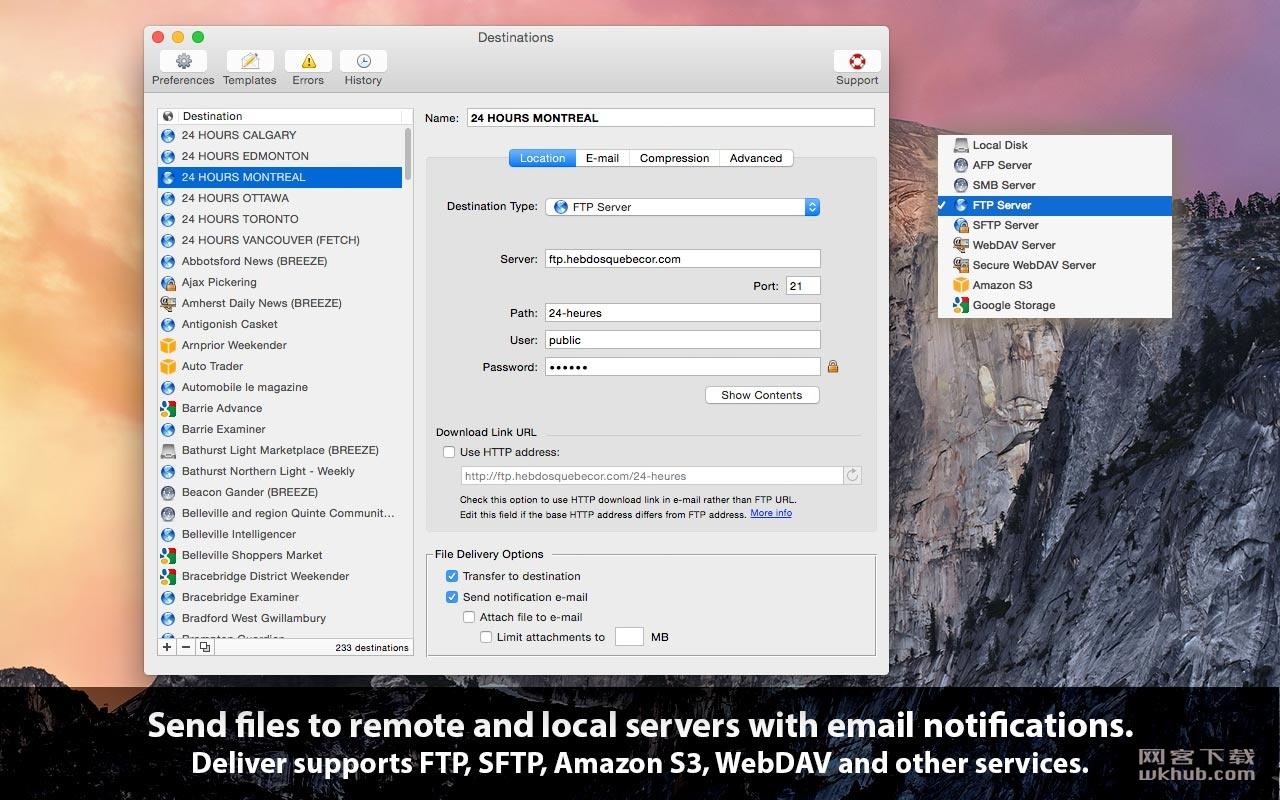Deliver 2.6.7 快速的FTP传输工具