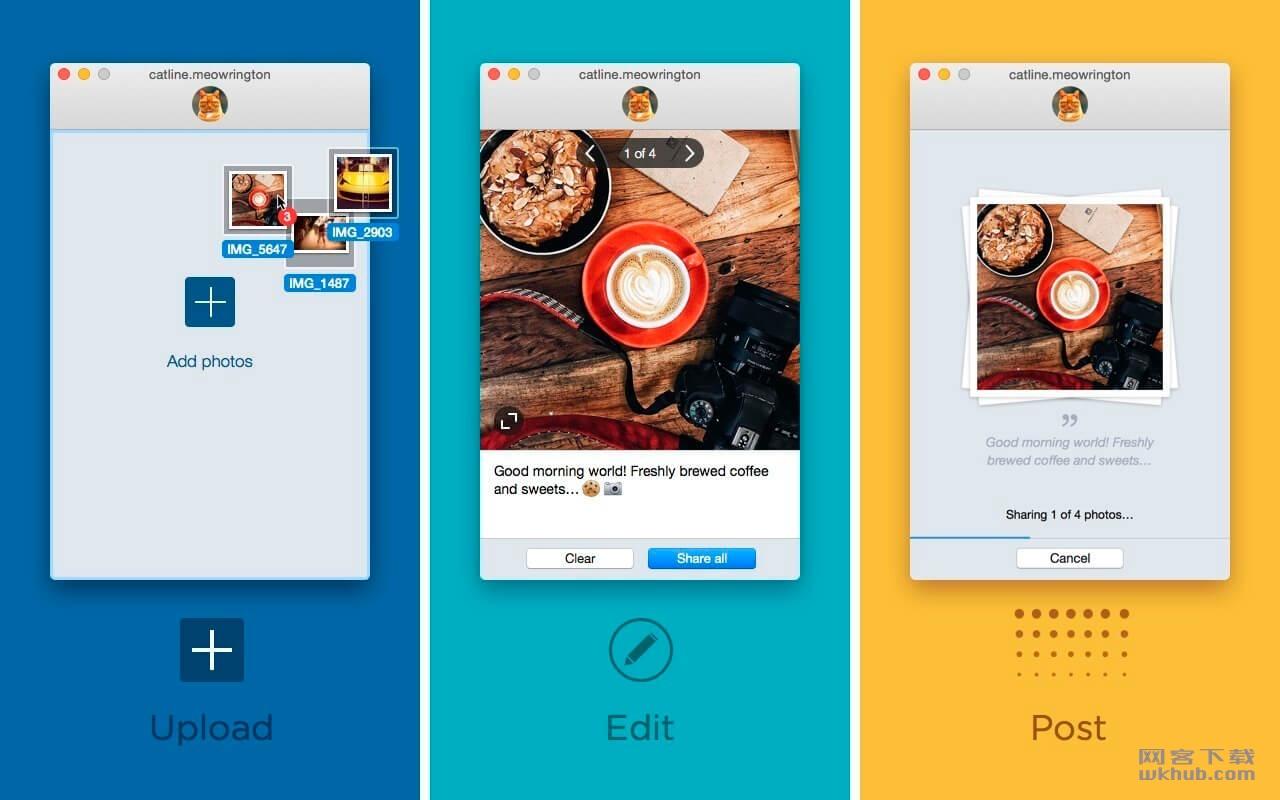 Uplet 1.2 Instagram批量上传图片工具