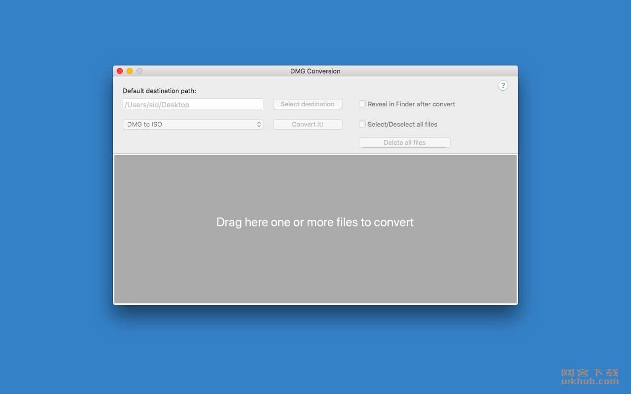 DMG Conversion 1.0 DMG格式转换工具