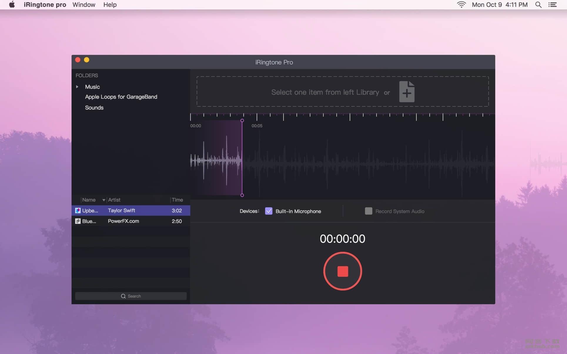 iRingtone Pro 3.6.5 iPhone铃声制作工具