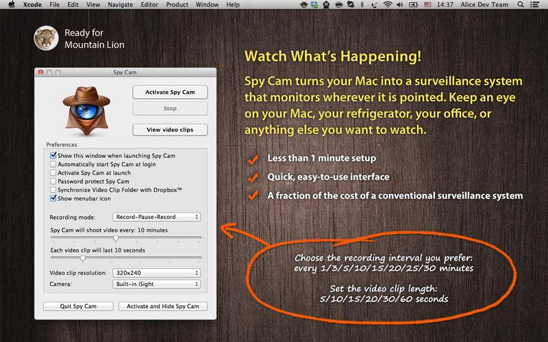 Spy Cam 3.5 Mac摄像头监控工具