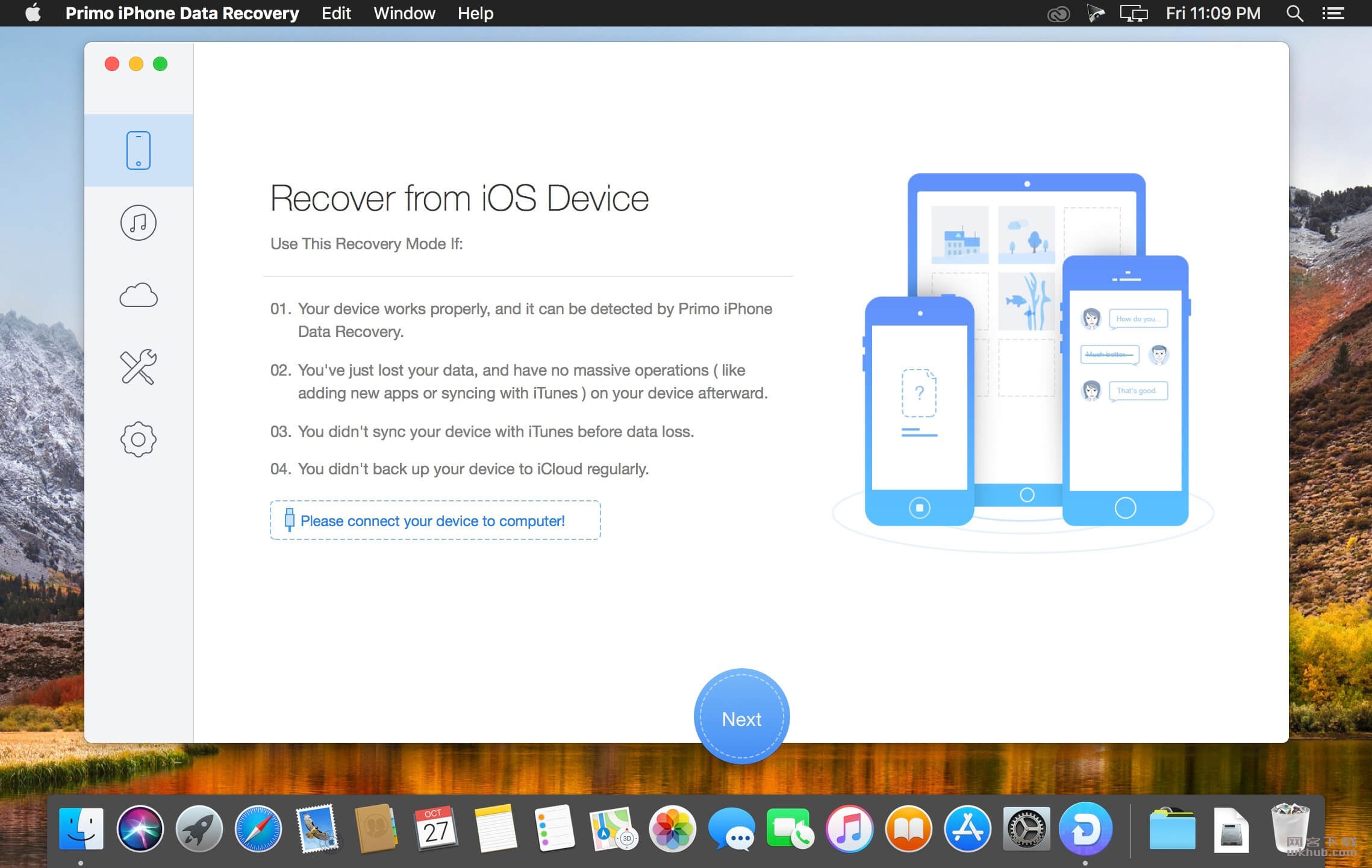 Primo iPhone Data Recovery 2.3.1 iOS设备数据恢复工具