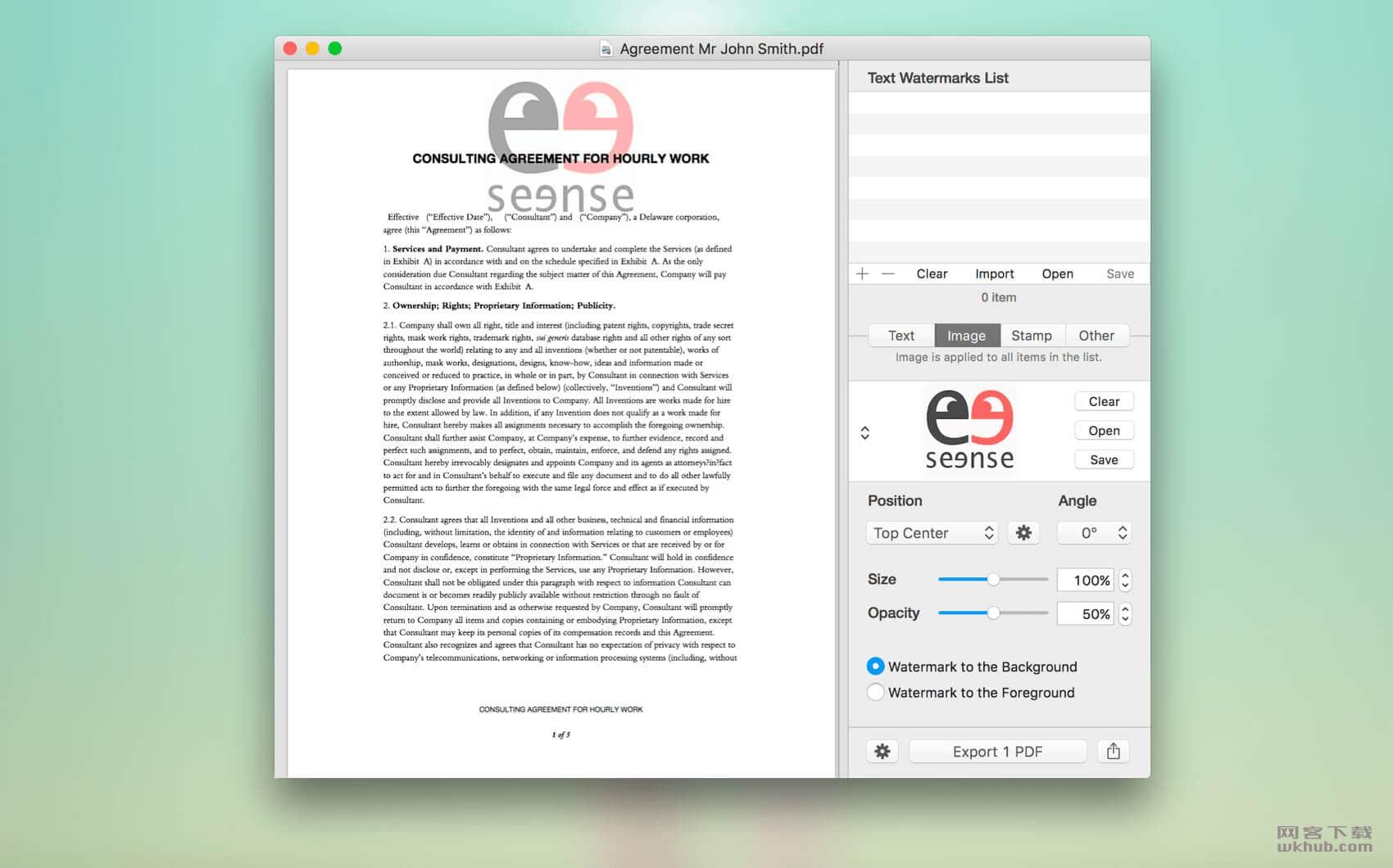 PDF Watermarker 3.9 PDF水印添加工具