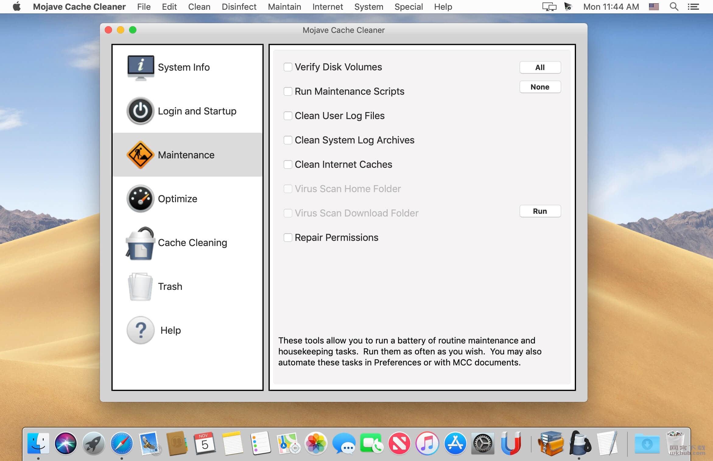Mojave Cache Cleaner 12.0.4 易用的系统维护工具