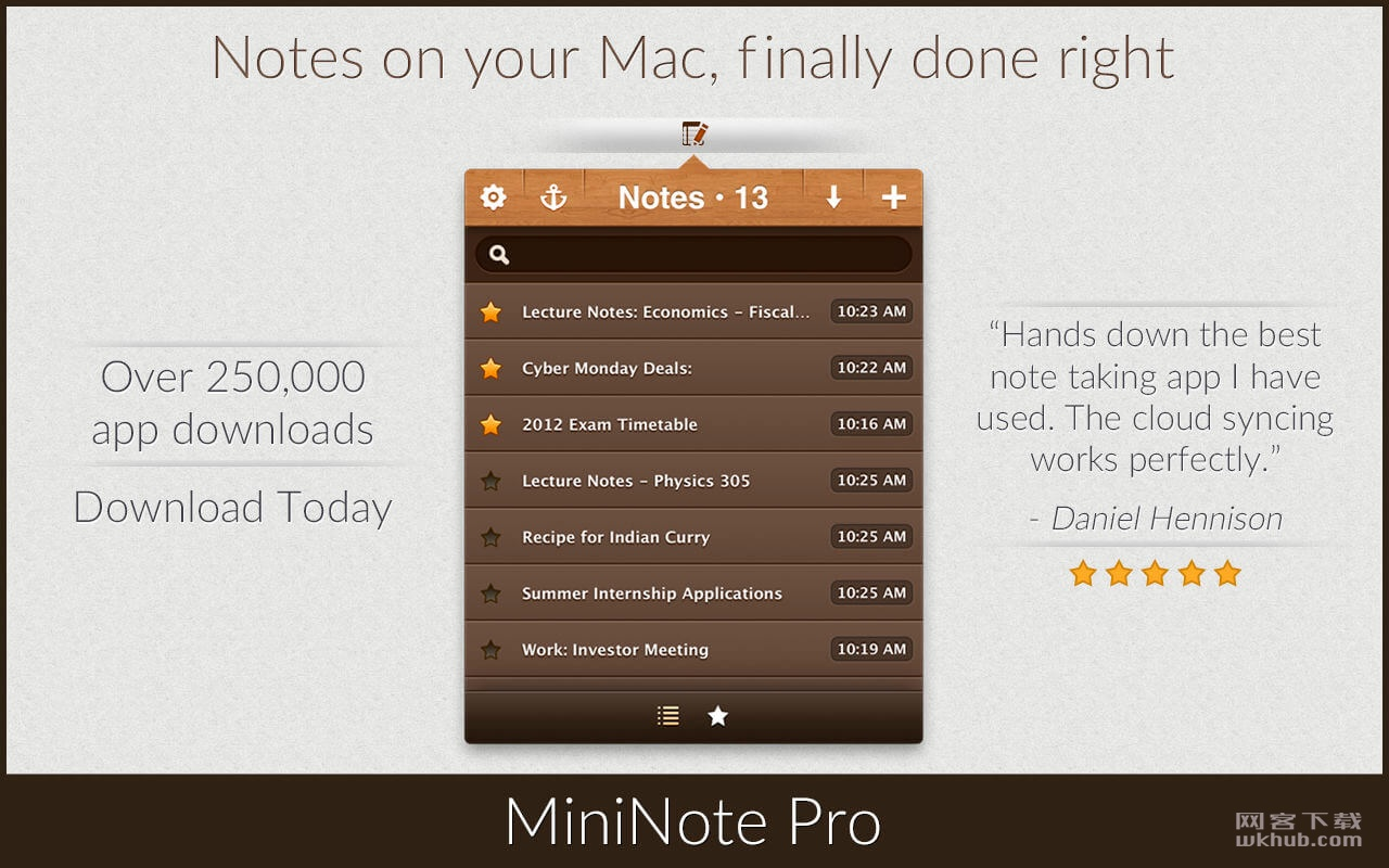 MiniNote Pro 5.4 优秀的笔记本应用
