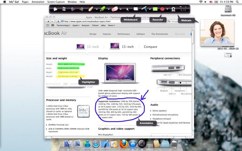 Ink2Go 1.8.0 简单易用的屏幕标注和录制工具