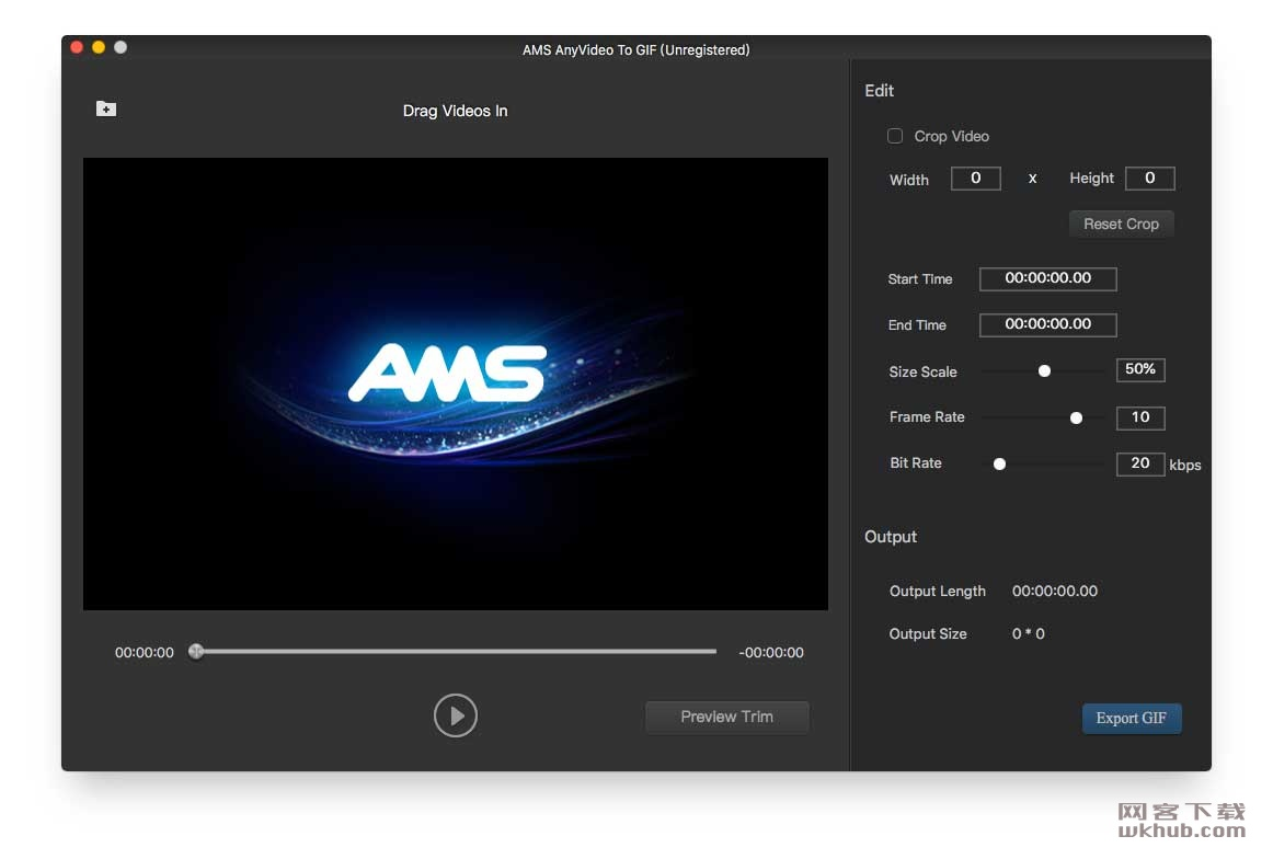 AMS Any Video To Gif 2.0.0 视频转Gif工具